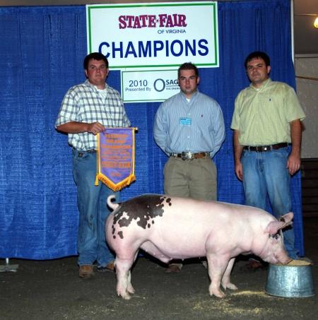 2010 Reserve Grand Champion Open Market Hogs Virginia State Fair